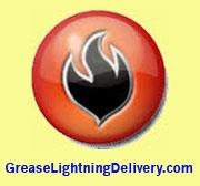 Grease Lightning Delivery logo.