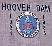 Hoover Dam logo.