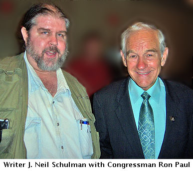 J. Neil Schulman with Ron Paul at FreedomFest 2009 in Las Vegas.