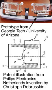 Piezo patent and prototype for autofocus eyeglasses.