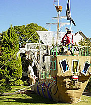 Halloween pirate ship.