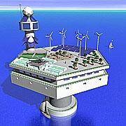 Seasteading platform concept model.