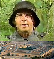 Arte Johnson and ferns plus Pentagon
